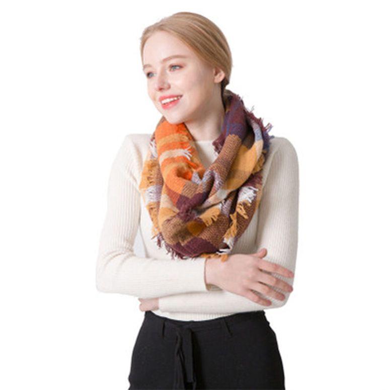 17 Styles Moda feminina inverno cachecol Ladies Xaile Unisex Inverno Quente Scarf Longo Focald Femme Enrole cobertor quente Tippet Acessórios M273Y