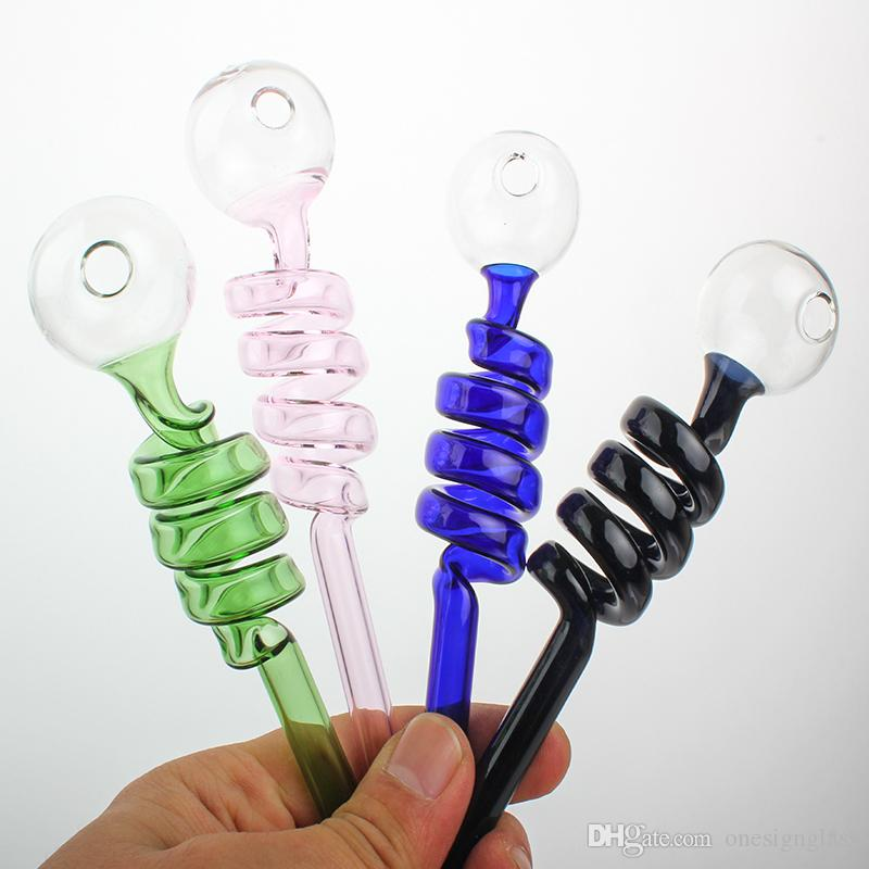 AS50 Renkli cam boru Sigara Kolu Borular Mini 14 CM Sigara Borular ile El Recycler ücretsiz kargo