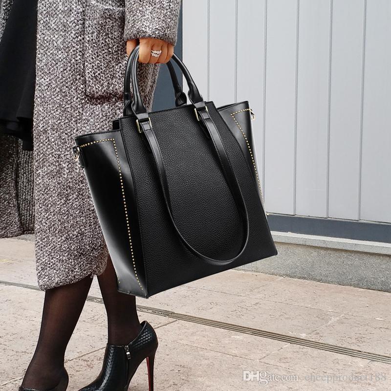 Grande saco do sexo feminino 2019 novos outono e inverno modelos de ombro moda coreana saco bolsas selvagem selvagem grande saco senhoras de capacidade