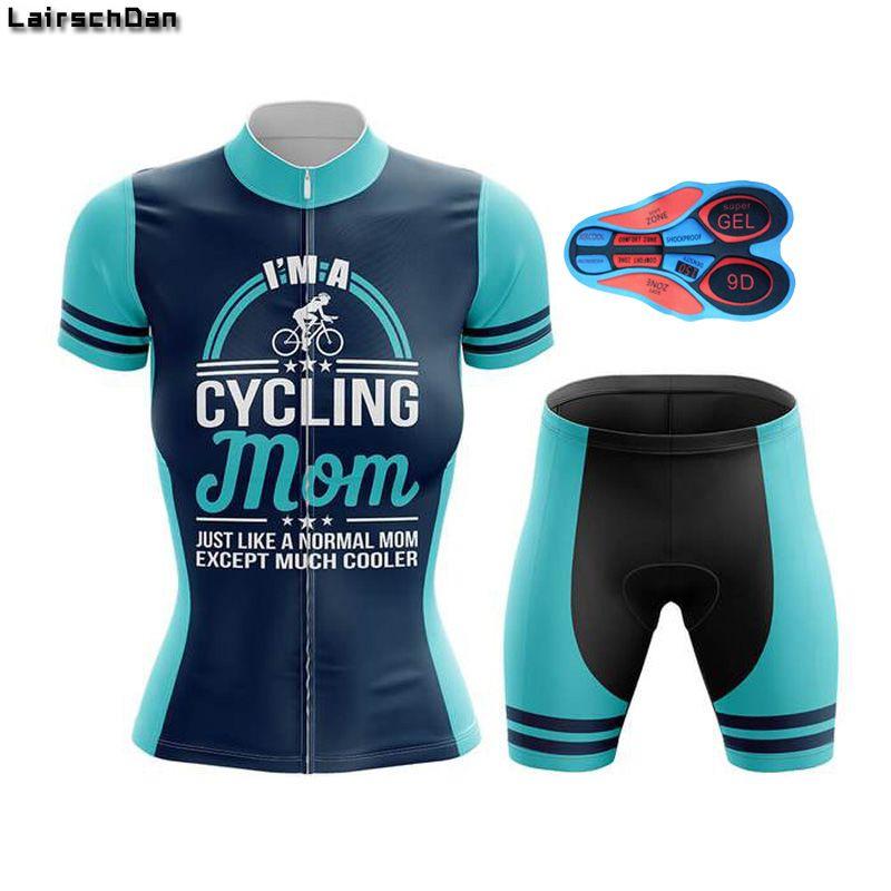 LairschDan femmes manches courtes Maillot cyclisme Set vélo Vêtements Kit d'extérieur Vtt Vêtements Vélo Maillot Velo Wear Uniforme Femme