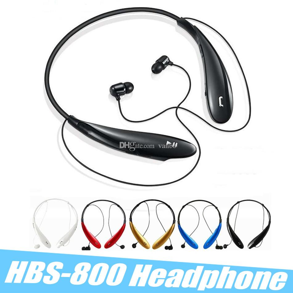 HBS-800 HBS 800 Bluetooth Headphones Sports Earphones Wireless Bluetooth 4.0 Headset Hansfree Neckbands In-ear Headphones No LOGO With Box