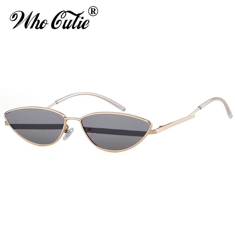 Wholesale Retro Tiny Lunettes de soleil Femmes Eye Haute Qualité Marque 2018 Sun Slim Cat Lunettes d'été Designer Vintage Hommes Shades OM680 QCTJR