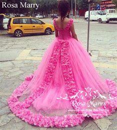 Compre Princesa Rosa Dulce 16 Vestidos De Fiesta De Quinceañera 2018 Vestido De Fiesta Hombro Hecho A Mano Flores En 3d Vestidos 15 Años Más Tamaño