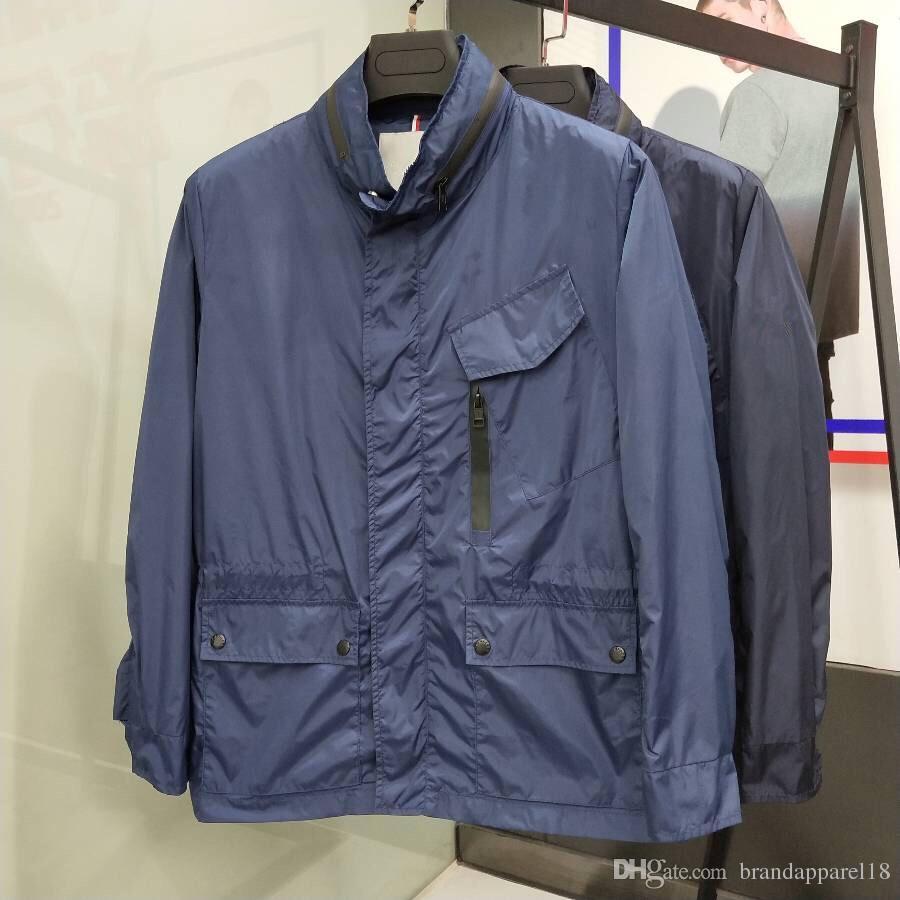 M687 Homens Spring outono capa fina Windbreaker completa Zip hoodies para homens moletom jaqueta Sportswear Roupa treino uniforme de beisebol