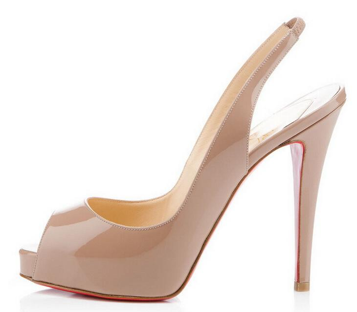 2019 Fashion Peep Toes High Heels Designer Zwei reizvolle Farben Rot Bottom Schuhe Shallow Mouth Sole mit hohen Absätzen Frauen Brautkleid Schuhe