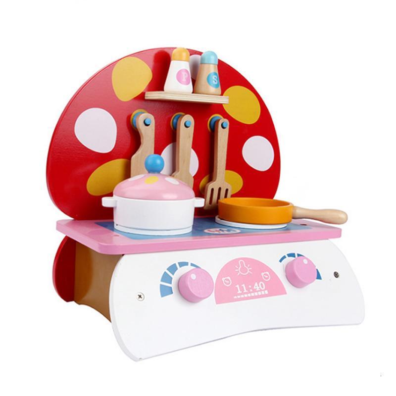 Ahşap Oyuncak Pişirme Oyuncaklar Oyna Pretend Simülasyon Sofra Setleri Süper Aşçı Rol Oynamak Oyuncak Harika Çocuk Hediye D77 SH190907