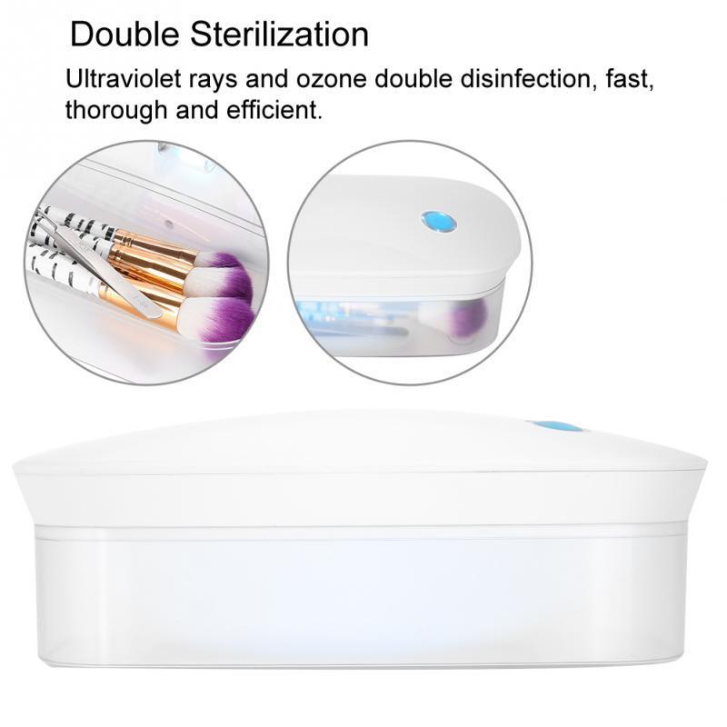 Caixa de Esterilizador UV Da Arte Do Prego Recarregável Luz Onda Caixa de Desinfecção De Ozônio Acessórios Unhas Pincéis de Maquiagem Ferramentas Esterilizador