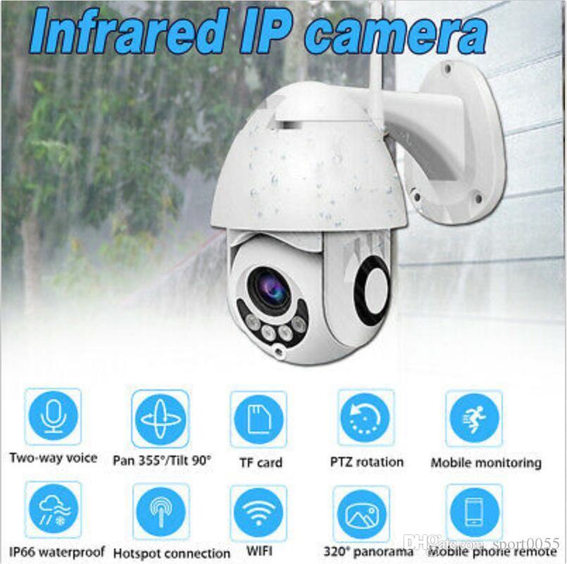 1pcs HD esterna impermeabile 1080P Dome Camera senza fili Wifi Remote Monitoring panoramica PTZ CCTV di sicurezza domestica