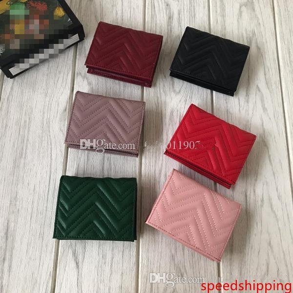Commercio all'ingrosso breve signora del cuoio 466492 borse, linee ondulate portafogli, alfabetico hardware bronzo, 6, cuoio Breve borsa aperta, portafogli multi-color