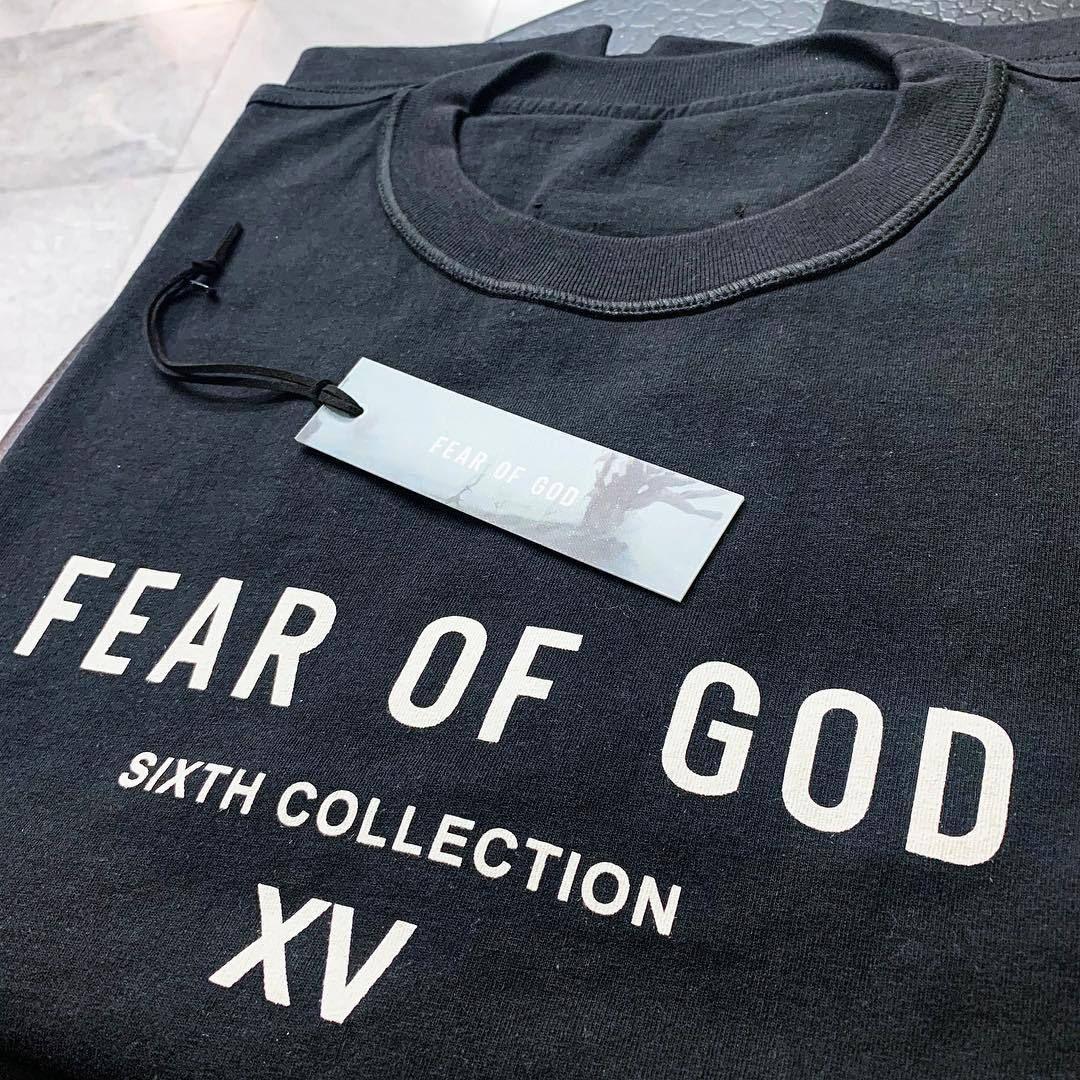 2021 Fear Fashion Футболка High Street Womens Designer и Мужская Божья Ограничена Футболка с короткими рукавами Япония OGPKT