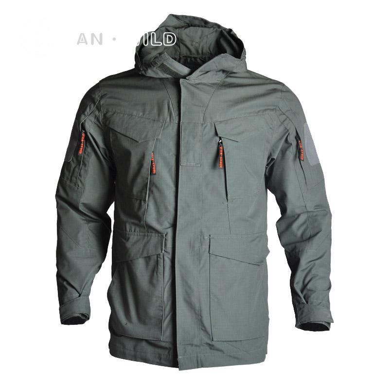 Invierno camuflaje M65 estadounidenses tácticos guerreras Multicamara Paintball abrigo con capucha hombres de las capas de ropa impermeable