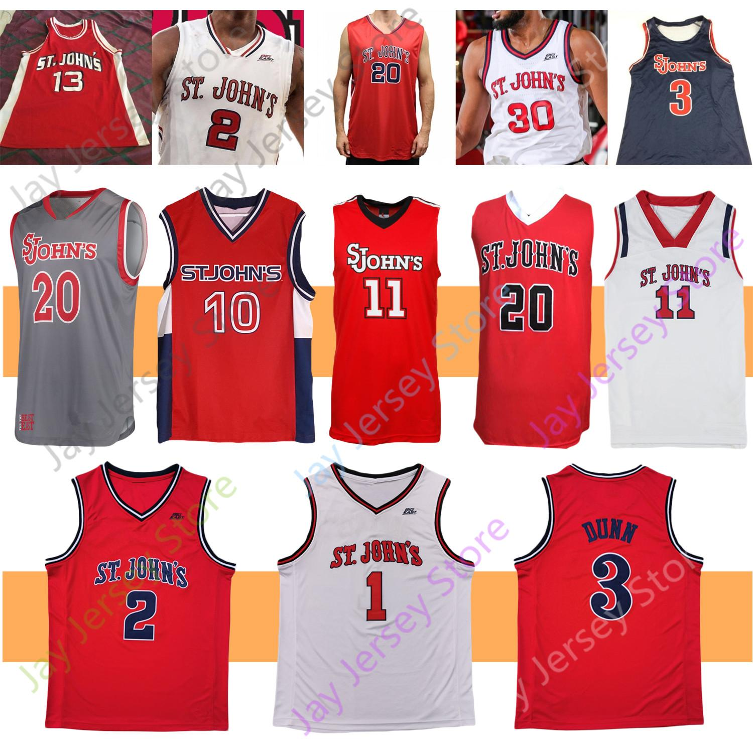 2021 St. Johns Red Storm Basketball Jersey NCAA College David ...