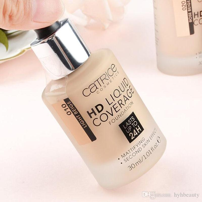 Spedizione gratuita!! Catrice Cosmetics HD Coverage Liquid Foundation Lastes Upto24 H 30ML / 1.01fl.oz trucco Foundation4 tipi Disponibile