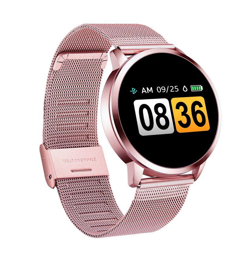 Q8 OLED Bluetooth Smart Watch Stainless Steel Waterproof Wearable Device Smartwatch Wristwatch Men Women Fitness Tracker