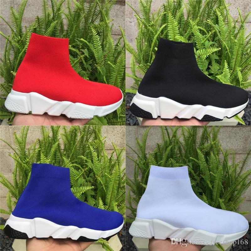 2020 Yeni erkekler kadınlar Sneakers Hız Runner Moda Çorap Ayakkabı Üçlü Siyah Çizme Kırmızı Düz Trainer Erkekler Kadınlar Günlük Ayakkabılar Spor
