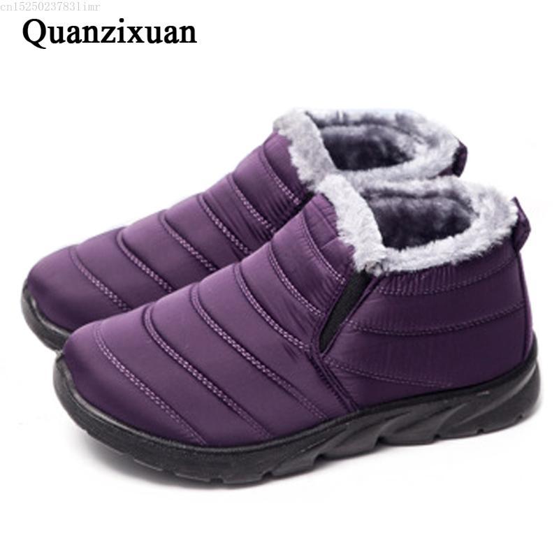 Schnee-Aufladungen 2020 neue Ankle Boots für Frauen Weibliche Winterschuhe Booties wasserdichte Frauen Schuhe Damen Winter