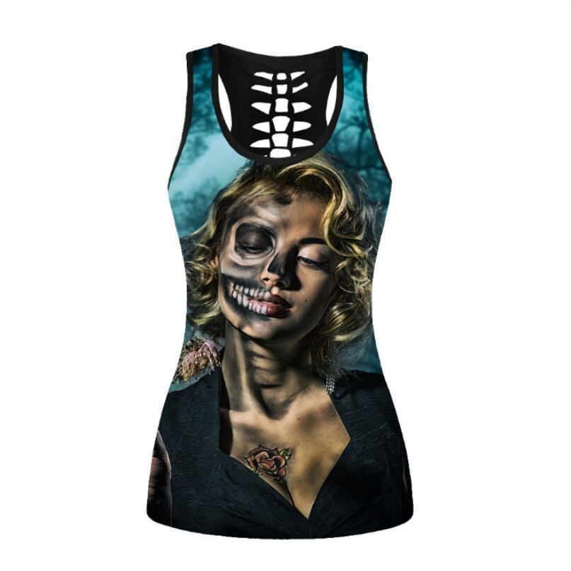 Dropshipping USA Size Pretty Girl Vest For Women Cute Lovely Tanktops Digital Printing Female Unisex Summer Sleeveless Top Mujer