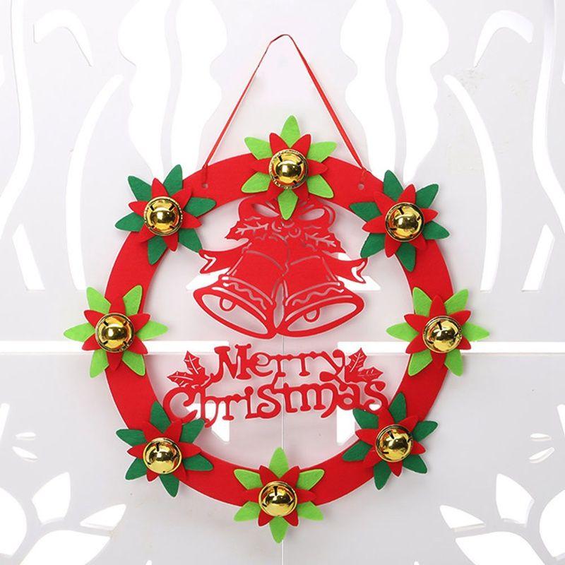 1 Adet Noel Süsleri 30CM Otel Ağacı Çelenk Asma Süsler Asma Noel Çelenk Kapı Dokumasız