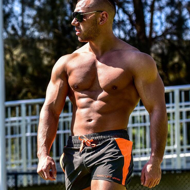 Brand Men's Beach Shorts Quick Dry Swimming Shorts For Men Swimwear Board Briefs Surf Boxer Swim Gym Sport Trunks Short Surfing Pants US-90