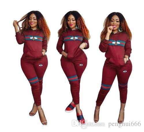 fashion Woman Sportswear Letter fashion Sweatshirt + Pants Two-piece Set Woman Jogging Sport Suit for Ladies Tracksuit Sweatsuit