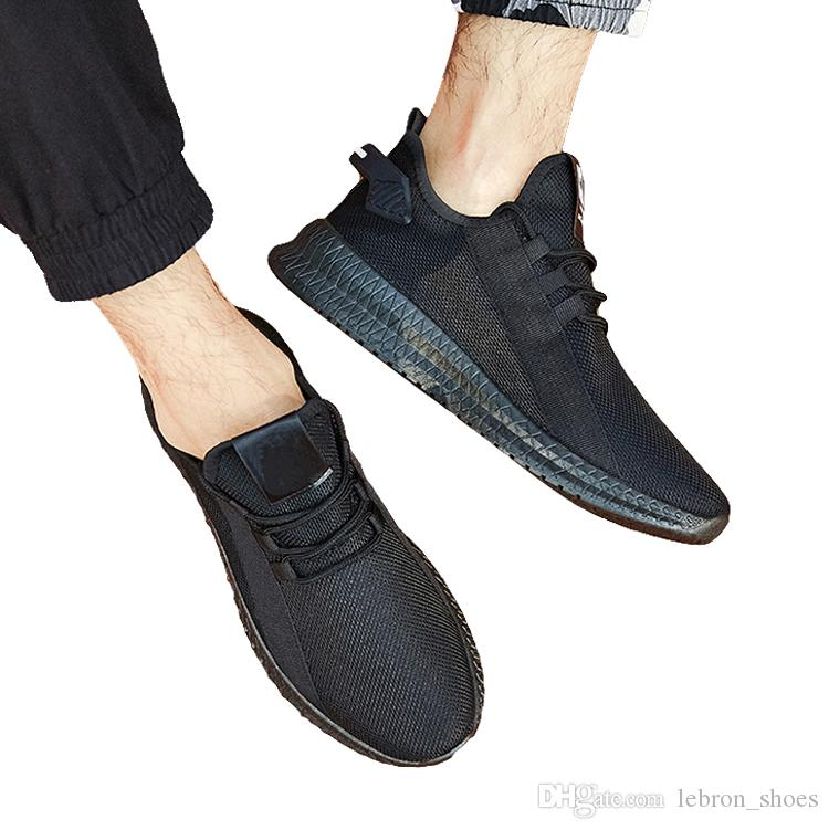 Top Quality Mens shoes autumn 2019 new shoes men breathable tide shoes wild shoe cushion sports and leisure net men's running