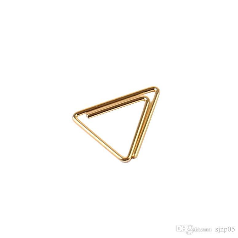 مقاطع معدنية صغيرة ورقة الذهب البيضاوي زهر البرقوق مثلث ورقة كليب المرجعية مذكرة مخطط مقاطع مدرسة مكتب القرطاسية اللوازم