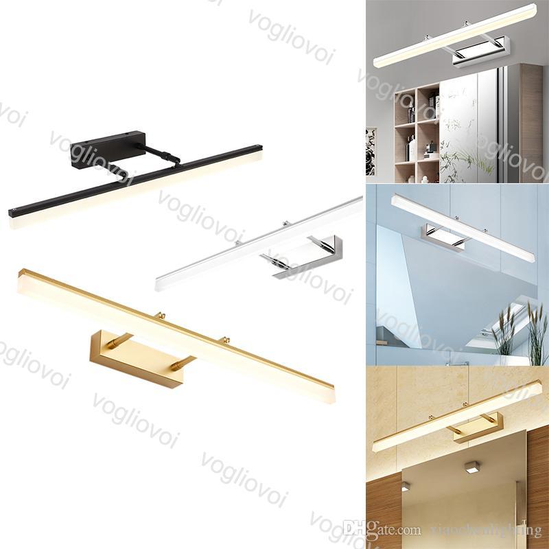 مصابيح الحائط LED مرآة مصباح AC100-265V 9W 12W 3500K 6500K ماكياج الإضاءة الداخلية لغرفة النوم الحمام DHL