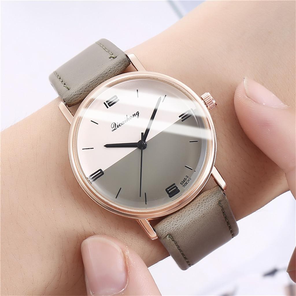 Relojes de lujo de las mujeres de moda correa de cuero 2019 de la personalidad Dial Mujer hora de señoras reloj de pulsera