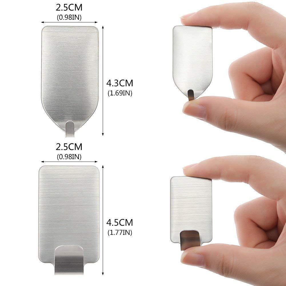 Ganchos de pared adhesivos fuertes Ganchos para colgar de trabajo pesado 20pcs
