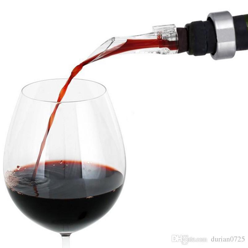 New Red aerador vinho bico Pourer plástico transparente acrílica aeração Pourers Decanter simples Resuable Barra de Ferramentas Eco-friendly DHL grátis