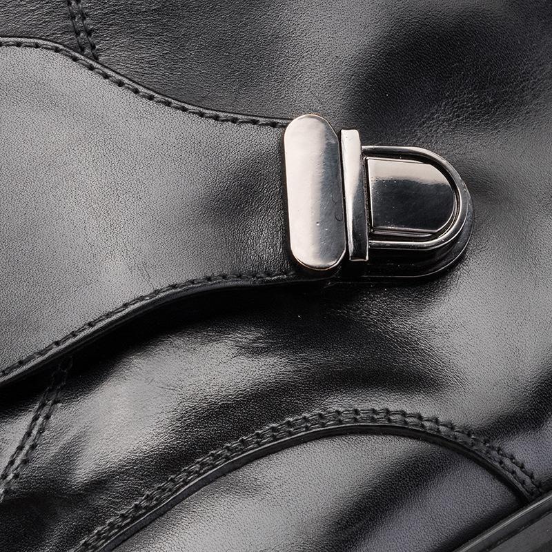 Trend Männer Lederstiefel Men Round Toe Arbeit Rind Winter-Lederstiefel Rind Schuhe