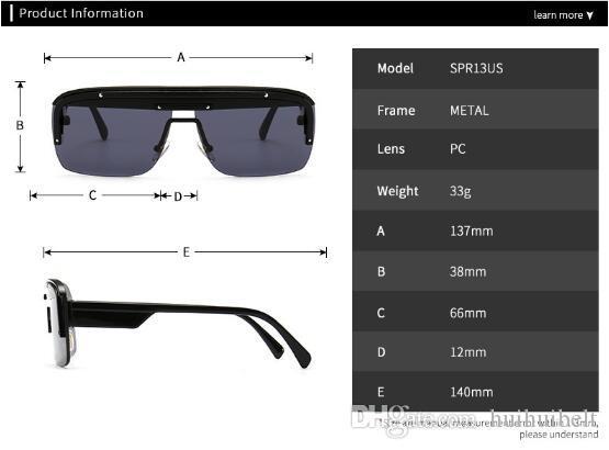 Nuovi occhiali di tenuta super integrati Europa e Stati Uniti tendenza street shooting moderni occhiali da sole SPR13US