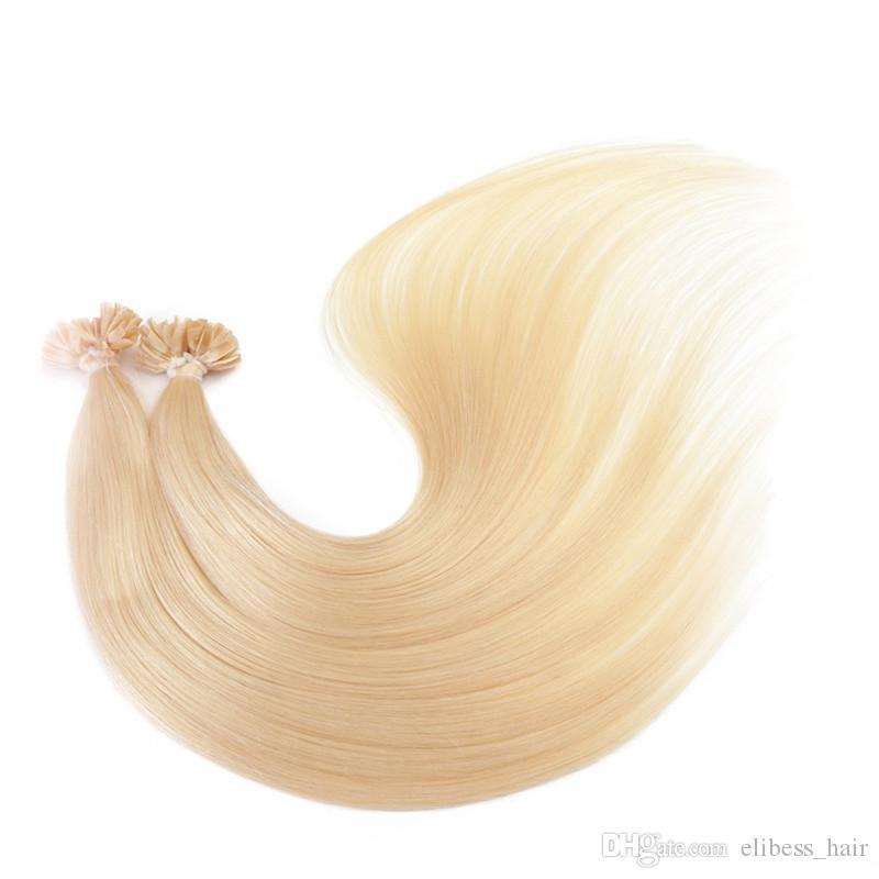 pointe Kératine dans les 200s de la / des extensions de cheveux / lot couleur 99J extensions de cheveux de pointe U, Livraison gratuite