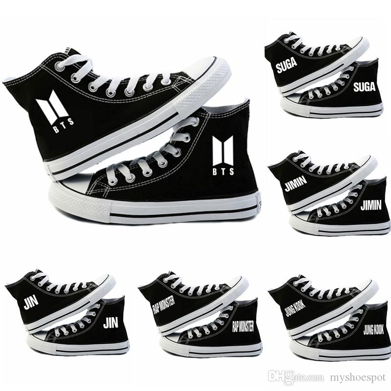 Unisex BTS Canvas Shoes JUNGKOOK JIMIN