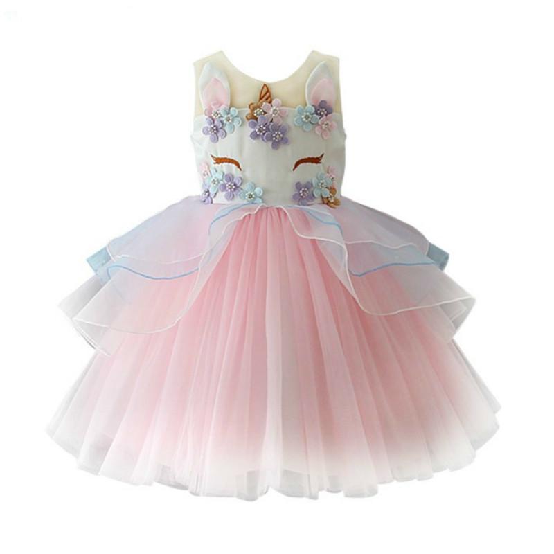 Costume buon compleanno Nuovo arrivo Vestito da principessa per ragazza Abiti da festa Abiti natalizi Outwear per bambini Abbigliamento per bambina J190520