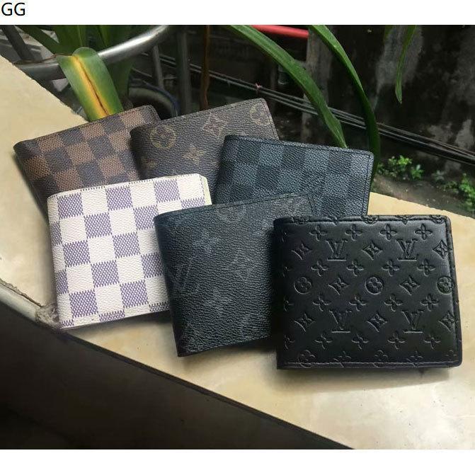 DD2 envío 2020 cartera de cuero genuino bolsillo para los hombres casual Tarjeta de corto masculino monedero de la manera libre de las carpetas para los hombres sin caja Q1SE