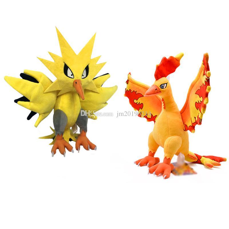 New Toy Zapdos Moltres Soft-Puppe-Plüsch-Spielzeug für Kinder Weihnachten Halloween besten Geschenke 11.8inch 30cm