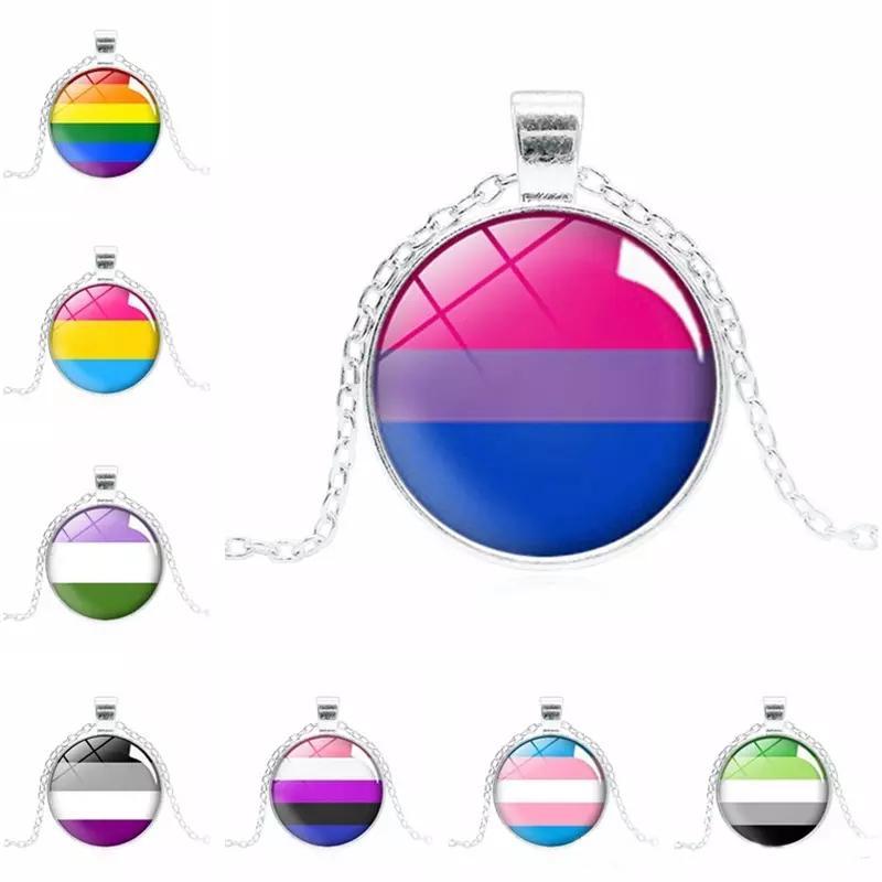 Гей и лесби знак ожерелье 8 стилей Радуга шаблон ожерелье творческий подарок гей гордость ювелирные изделия