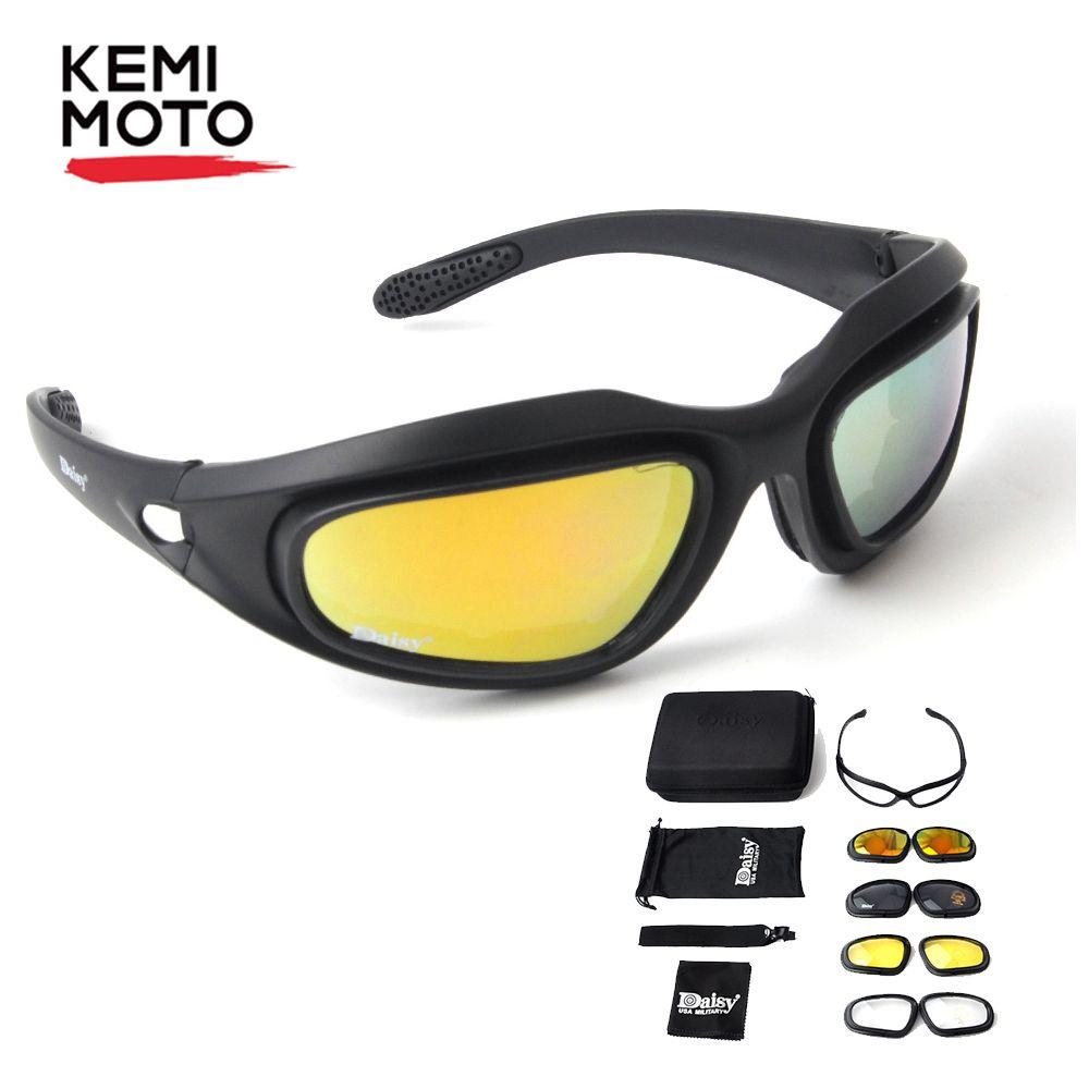 Motorcycle Riding 4 KEMIMOTO Non-Polarized Motorcycle Riding Goggles Sunglasses