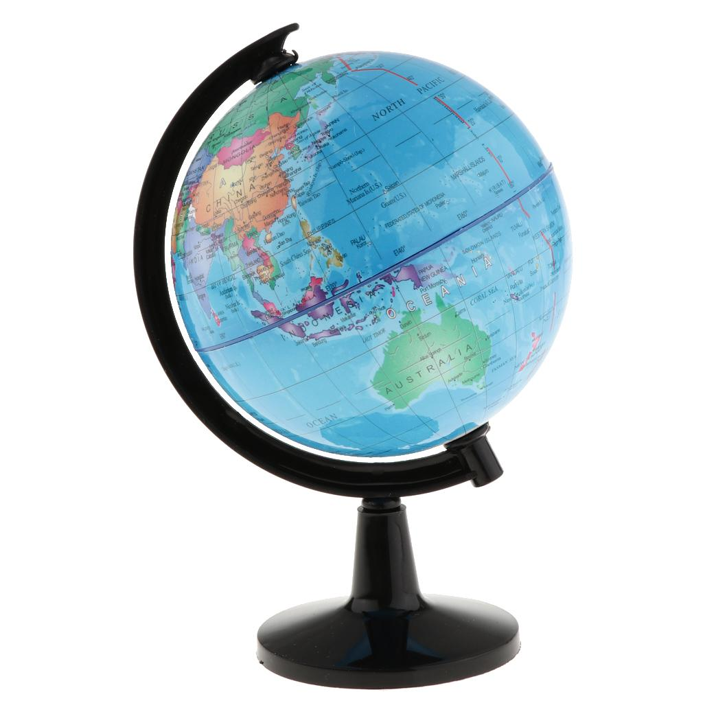 Rotary World Globe modèle Carte du monde Globe pour l'école en classe Teaching Aids Accueil Bureau Décor