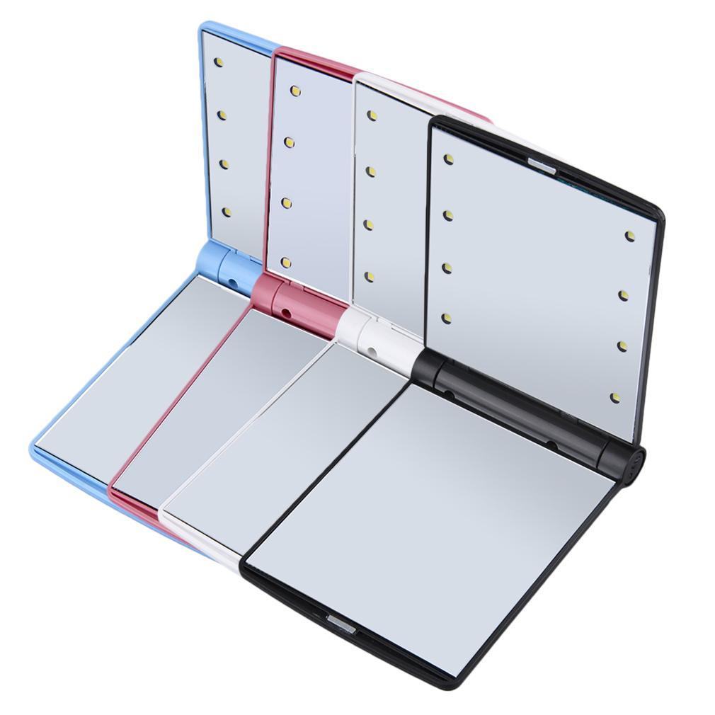 메이크업 화장품 Led 미러 8 Led 조명 램프 접는 휴대용 컴팩트 포켓 미러 뜨거운 판매