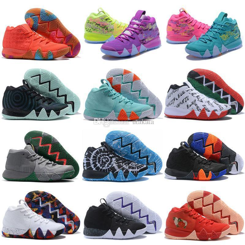 Vente Pas Cher Sneakers Sports Irving 4 Enfants Femmes Hommes Chaussure Wolf Gris Équipe Rouge Baskets En Plein Air BasketBall chaussures Taille 36-46