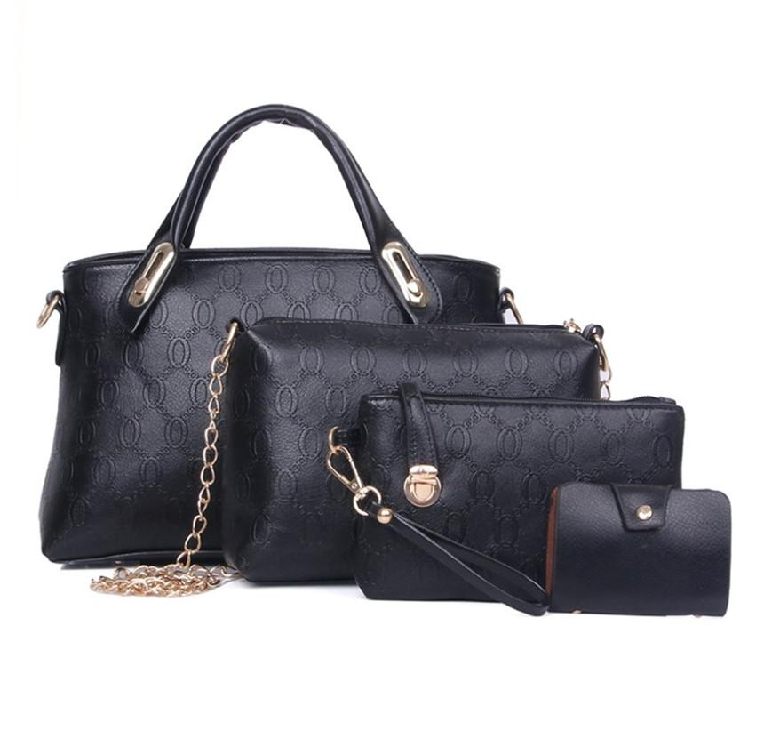8colors New Women Handbag Bear Shoulder Cross Body Fashion Handbag Set of Four Pieces PH-CFY20062049