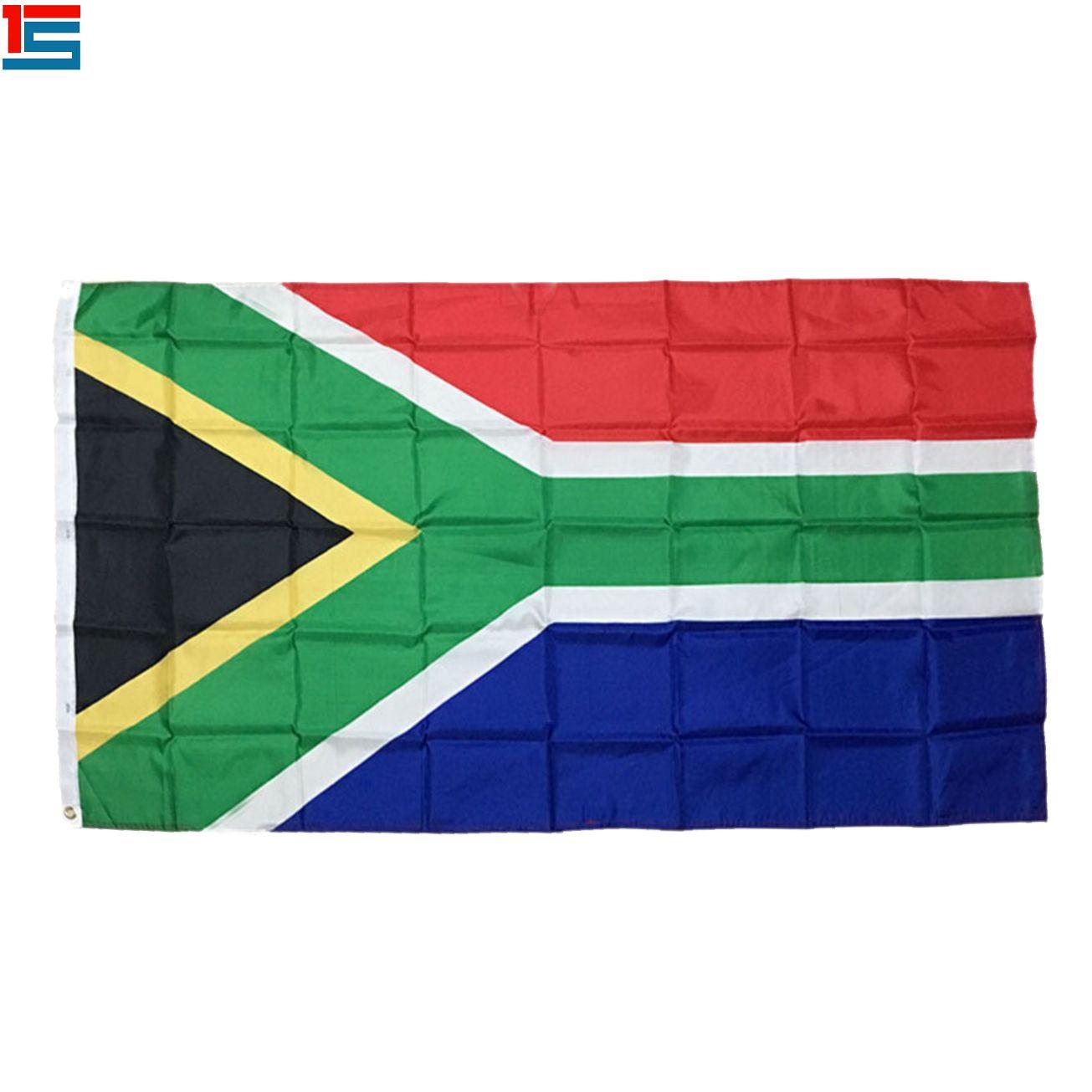 Dijital baskı Güney Afrika Bayrağı 90 x 150 cm İki grommets ile Polyester Ulusal Ülke Bayrağı Afiş