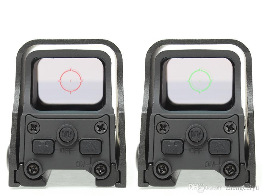 20mm Raylı Dağı ile Taktik 552 Holografik Görüş Kırmızı ve Yeşil Nokta Av Tüfek Kapsam