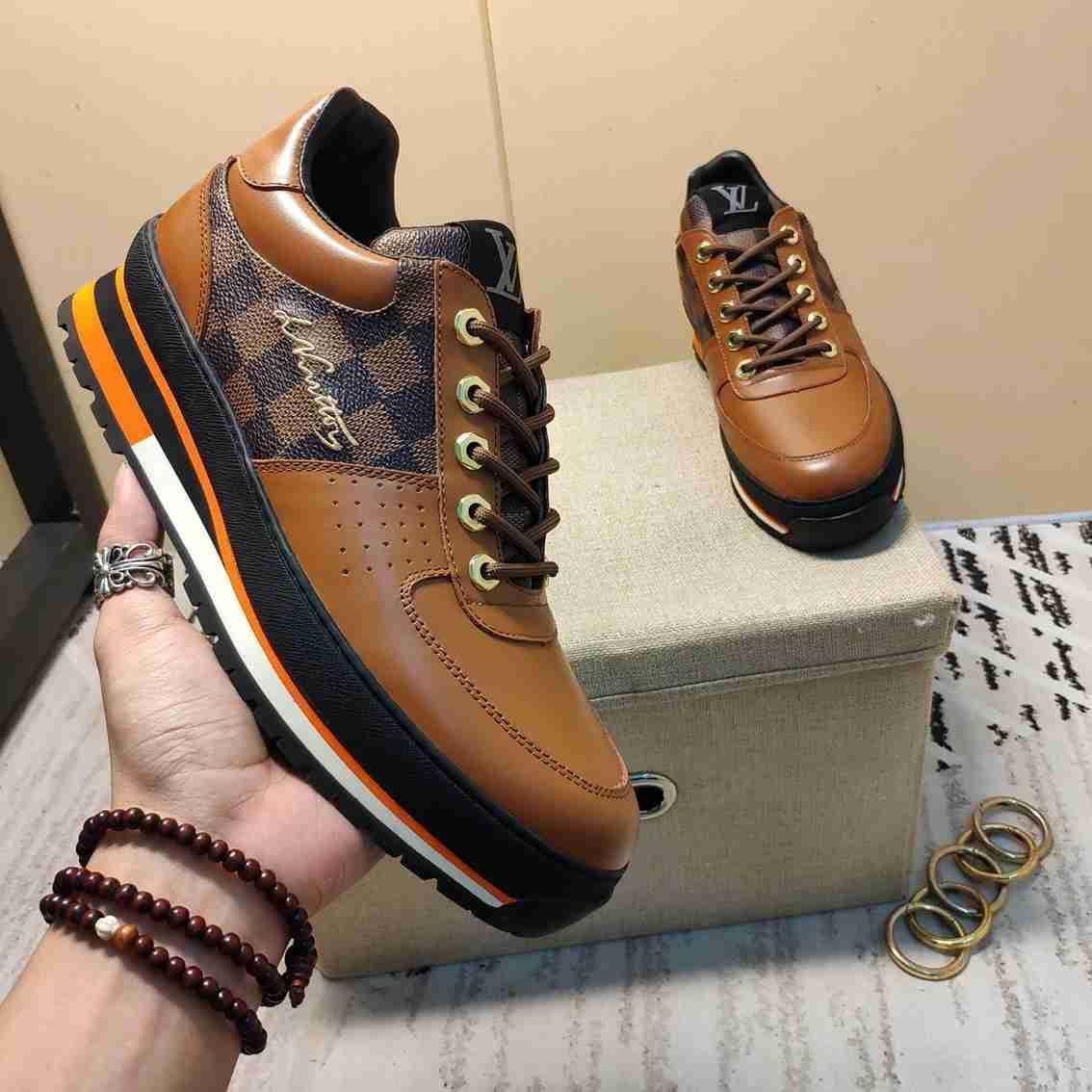 2019Designer Mens sapatos de luxo Trainers SapatilhasLVLouisBusiness Casual sapatos masculinos 38-45 1127-22