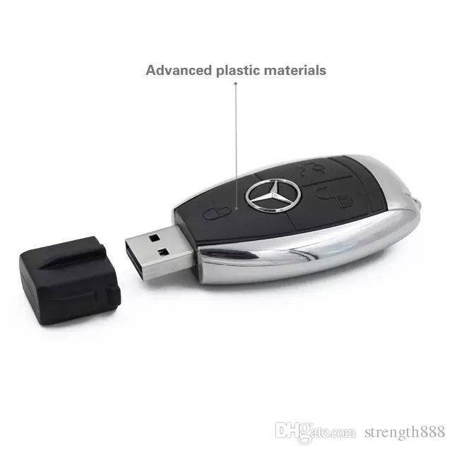 Capacité réelle de conception 100% de haute qualité Stylo Drive Clés de voiture Mercedes-Benz 32 Go ~ 64 Go U disque USB 2.0