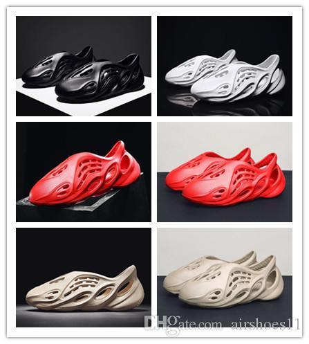 Zapatos de espuma Runner Kanye West playa de verano y zapatillas se venden bien nuevo diseñador zapatillas para hombres y mujeres