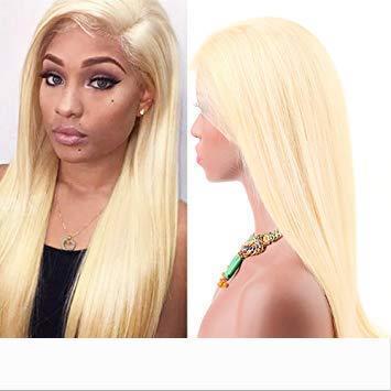 150% Dichte 613 Blonde volle Spitze Menschenhaar-Perücken mit Baby-Haare-gerade brasilianischen Indian Virgin Lace Front Perücken Pre Zupforchester