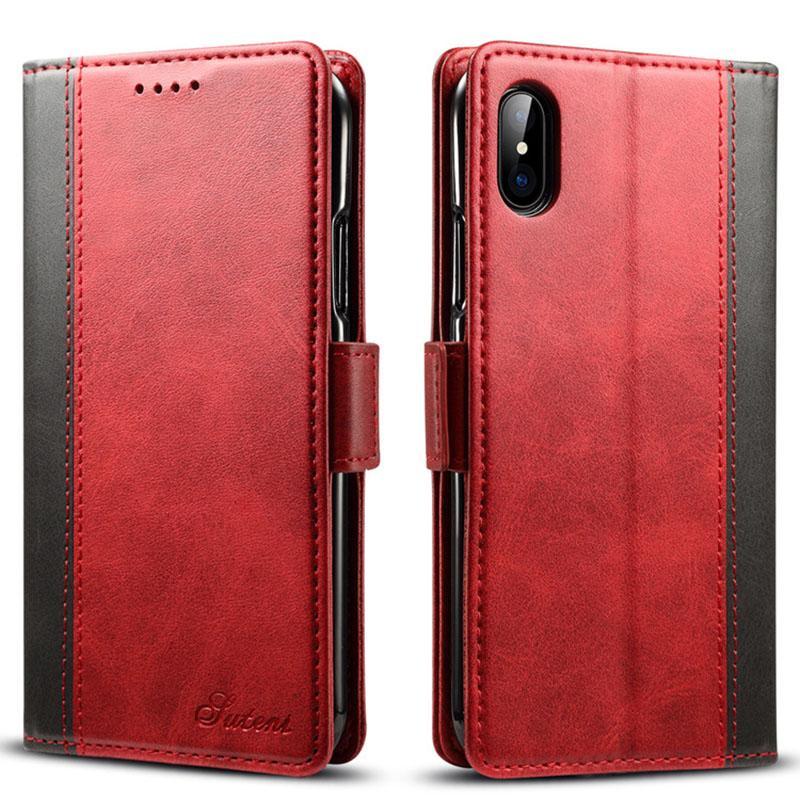 بطاقة الرجعية حالة فتحة جلدية للiPhone11pro إكسس ماكس حالة 7 زائد قذيفة الهاتف للحصول على XR الحالات 8 الهاتف